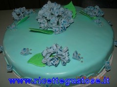 torta,decorata,ortensia,gum paste,pasta di gomma,decorazioni